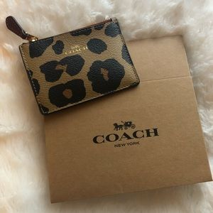 Coach Leopard Print Key Pouch